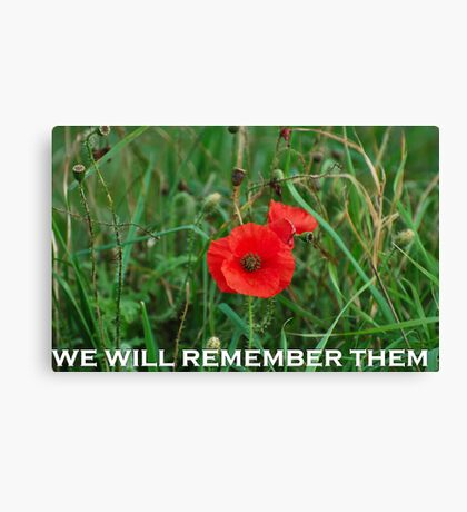 REMEMBERANCE DAY POPPY Canvas Print