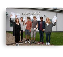 Bishop Justus School A Level results students 2015 Canvas Print