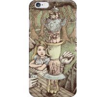 alice at the mad tea party iPhone Case/Skin
