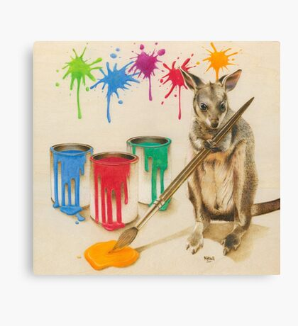 Adding a Splash of Colour Canvas Print