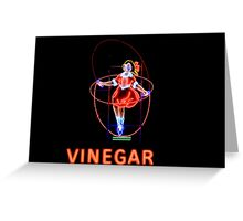 Skipping Girl Vinegar Greeting Card