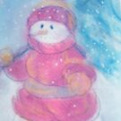 snowman carrying tree by cicalese653