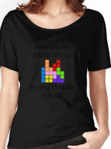 Sexy Puzzle Skills  Women's Relaxed Fit T-Shirt