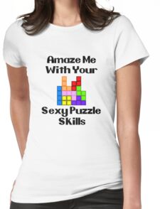 Sexy Puzzle Skills  Womens Fitted T-Shirt