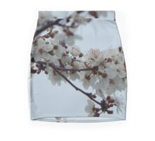 Spring Blossom Grey Sky Mini Skirt