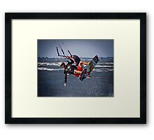 Getting some Air - Sandgate Framed Print