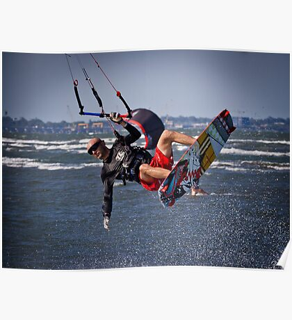 Getting some Air - Sandgate Poster