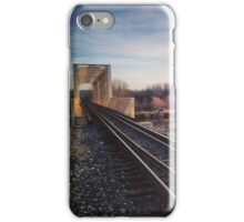 Railway Over the River at Nightfall iPhone Case/Skin