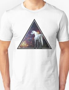 Galaxy unicorn triangle Unisex T-Shirt