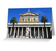 St. Pauls Outside the Walls Greeting Card