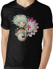 Wintry Little Prince T-Shirt Mens V-Neck T-Shirt