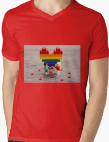 Committment and Equality Mens V-Neck T-Shirt