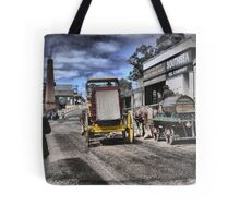 Always Busy at the Diggings Tote Bag