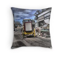 Always Busy at the Diggings Throw Pillow