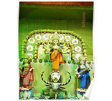 Durga Puja, 2010, 19 Pally, Panchanantala, Gariahat, Kolkata, India Poster