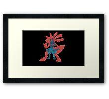Lucario Evolution Framed Print