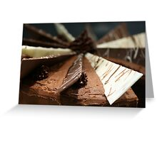 Delicious, gooey, tempting chocolate cake Greeting Card