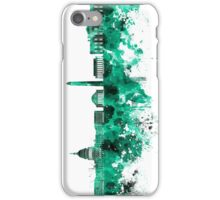 Washington DC skyline in green watercolor on white background  iPhone Case/Skin