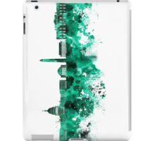 Washington DC skyline in green watercolor on white background  iPad Case/Skin