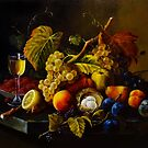 Fruit Still Life Experience (Roesen replica) by Natalia Lvova