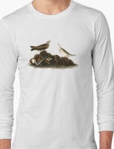 Brown Titlark (now American Pipit) Long Sleeve T-Shirt