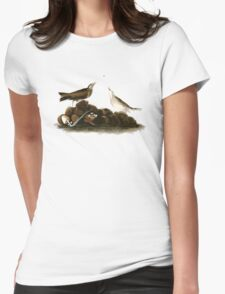 Brown Titlark (now American Pipit) Womens Fitted T-Shirt