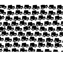 Black and White Cars Photographic Print