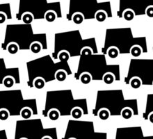Black and White Cars Sticker