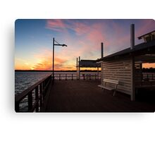 Woody Point Jetty at sunset Canvas Print