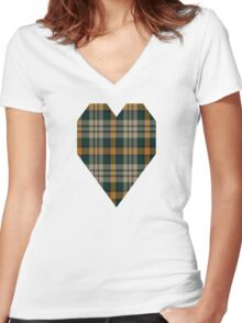 02813 York County, South Carolina Tartan  Women's Fitted V-Neck T-Shirt