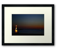 Channel markers Framed Print