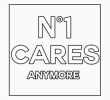 No 1 Cares Anymore. One Piece - Short Sleeve