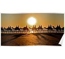 Camels on Cable Beach Poster