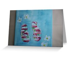 Summer Sandals Greeting Card