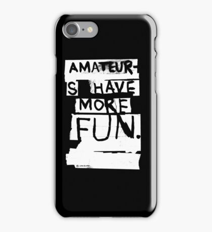AMATEURS iPhone Case/Skin