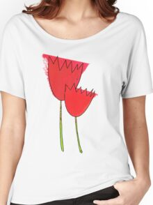 I love red tulips Women's Relaxed Fit T-Shirt