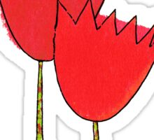 I love red tulips Sticker