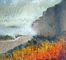 Mist on Stanage Edge by Sue Nichol