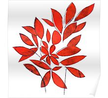 red leaves color your day Poster