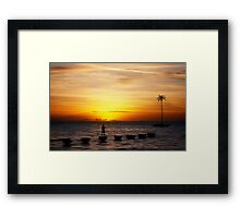 empty with you  Framed Print