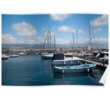 La Morena harbour Canary Islands Poster