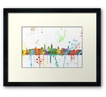 Glasgow Skyline Framed Print