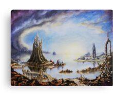 Landscape of dreamy imagination Canvas Print