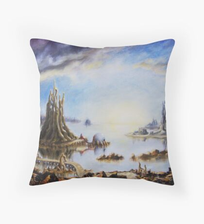 Landscape of dreamy imagination Throw Pillow