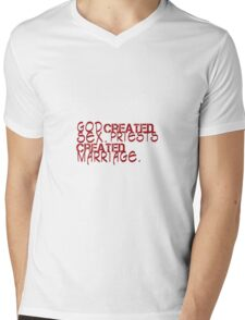 funny humor slogan Mens V-Neck T-Shirt