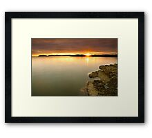Castlehill Point Sunset Framed Print