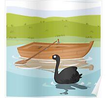 ROWBOAT- black swan (AQUATIC VEHICLES) Poster