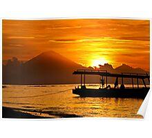 Mount Agung sunset, Bali Indonesia Poster