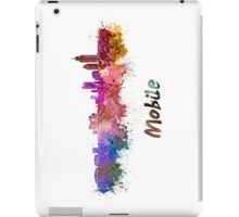 Mobile skyline in watercolor iPad Case/Skin