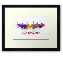 Chesterfield skyline in watercolor Framed Print